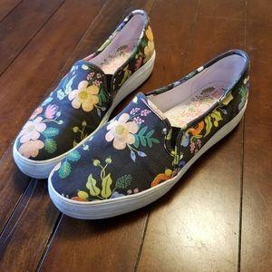 Keds rifle paper floral slip on platform sneakers